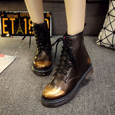 Retro Women Flat Lace Up Ankle Boots High Top Sneakers Shoes Oxfoard New Fashion