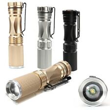Elfeland 1200LM 7W XPE Q5 LED ZOOMABLE Mini AA/14500 Flashlight Torch Waterproof