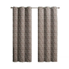 2-Chocolate Lenox Thermal Insulated Woven Blackout Window Curtain Grommet Panels