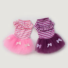 Cute Puppy Pet Dog Tutu Dress Lace Skirt Cat Princess Dress Tiny Dog Clothes SA1