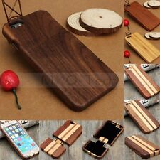 Genuine Real Natural Wood Bamboo Wooden Hard Case Cover For iPhone 5/6/6S/6 Plus