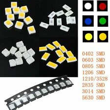 DIY Colors SMD SMT LED Light Chips 0402 0603 0805 1206 1210 3528 3014 2835 5630