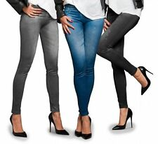 Leggings Jeggings Sexy Stretchy Printed Jeans Pants Women Black Gray Blue. US