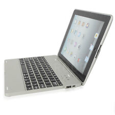 Laptop Notebook Bluetooth Keyboard 4000mAh Power Bank Case For Apple iPad 2 3 4