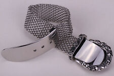 Men belt buckle stainless steel chain bracelet adjustable biker jewelry KB02