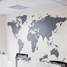 Big World Map Vinyl Decal, Art Mural Removable Home Decor Wall Stickers