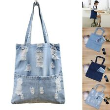 New Womens Large Handbag Denim Jean Shoulder Bags Tote Purse Messenger Hobo Bag