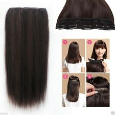 80g 5Clips On One Hairpiece Virgin Clip In Real Human Hair Extensions 40cm~55cm