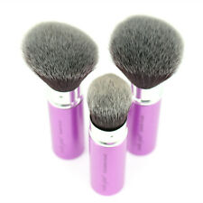 Retractable Powder Blush Foundation Brush Face Highlight Contour Make-Up Tool