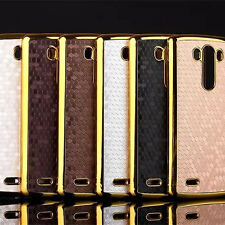 For LG Phone Slim Cool fashion PU Leather Skin Protector Back Phone Cover Case