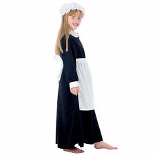 New Kids World Book Day Elsie Parlour Maid Girls Victorian Fancy Dress Costume