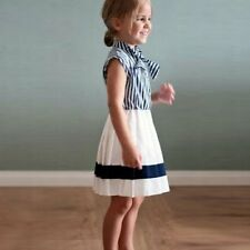 Toddler Baby Girls Sailor Nautical Uniforms Princess Party Pleated Dress Skirt