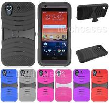 HEAVY DUTY RUBBER SKIN + HARD COVER CASE for HTC Desire 626 626s cell phone