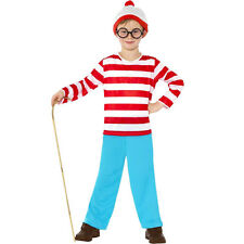 Kids World Book Day Wheres Wally Child Boys Fancy Dress Party Costume