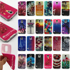 24 Designs Colorful Painted Soft Silicone Rubber TPU Back Case Cover For Samsung