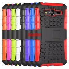 For Samsung Galaxy ACE 4 3D 2-Layer Shock Skip Proof Grenade Rugged Grip Case