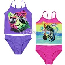 2pcs Baby Girl Tankini Swimsuit Bathing Suit Bikini Set Swimwear Costume SZ 3-7