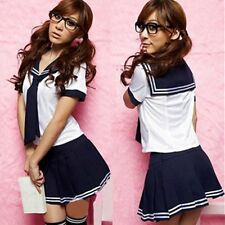 Japanese School Girl Fancy Dress Outfits Set Sailor Suit Uniform Cosplay Costume