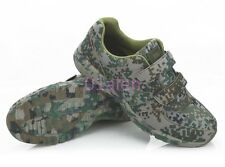 Mens Velcro Hiking Camouflage Military Combat Outdoor Boot Running Trainer Shoes