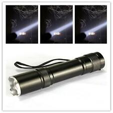 CREE LED Q5 Flashlight Torch Zoomable Focus Zoom Light Lamp 18650 Camping SM