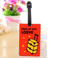 1Pc PVC Travel Luggage Tag Suitcase Baggage Bag Name Address ID Tag Holder New