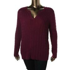 Charter Club 6690 Womens Cable Knit Long Sleeves Pullover Sweater Top Plus BHFO