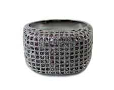 Mens Cluster of Ice Micropave HipHop Bling Ring