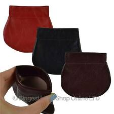 NEW Mens Ladies Top Quality Rounded LEATHER Snap Top COIN TRAY PURSE by Golunski