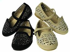 Adorable Baby Toddler Girls Studded Dress Shoes Ballet Flats Slip-On Pageant