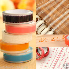 4 Roll Clear Decorative Lace Masking Adhesive Tape Roll Sticker Scrapbooking