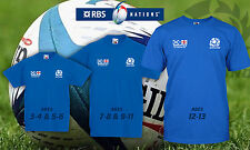 Kids Six Nations Rugby 2016 Scotland v England t shirt win Murrayfield Feb 2016