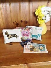 Hand Made Oilcoth Purses, Pencil Cases, Makeup bags Glasses case Spotty & Dots