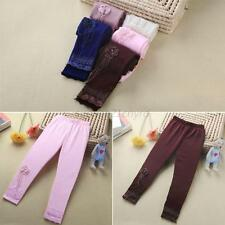 Candy Color Baby Leggings Kids Girl Lace Flower Tight Pants Stretch Trousers U96