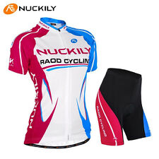Team Women Riding Cycling Wear Short Sleeve Bike Bicycle Shirt Jersey Shorts Set