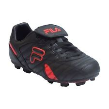 Fila FORZA III RB Youth Boys Black Red Laced Athletic Outdoor Soccer Cleats