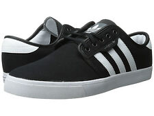 ADIDAS ® SEELEY CANVAS BLACK WHITE BLACK MEN'S SHOES * ORIGINAL AND NEW IN BOX