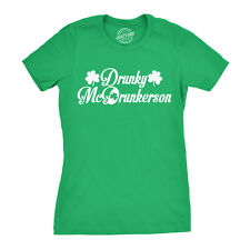 Womens Drunky McDrunkerson Tshirt Funny Drinking Beer St Paddys Day Tee