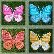 Colorful Butterfly [Set 1] Patch Iron Embroidered Applique Sew Badge Size 6*6 cm