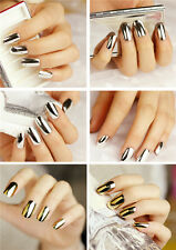 16 pieces Nail Art Gold and Silver Foil Wrap Decoration Armour Wraps Stickers