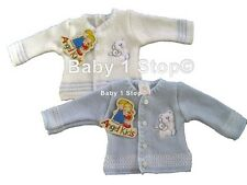 Premature Baby Cardigan 3-5 lbs or 5-8lbs Blue or White Early Baby BabyPrem