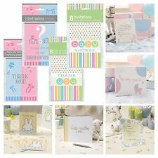 BABY SHOWER STATIONERY - Unisex Invitations,Thank you cards,Guest Books, Neutral