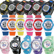 Children Boy Girls Swimming Waterproof LED Alarm Wrist Sports Digital Watch KIDS