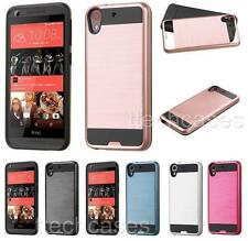 BRUSHED Hybrid Rubber Skin + Hard Cover Case for HTC Desire 626 626s cell phone