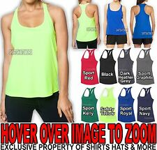 Ladies Moisture Wicking Dry Fit Racerback Womens Tank Top Yoga Athletic XS-3XL