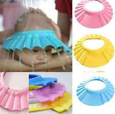 Baby Kids Children Safe Shampoo Bath Bathing Shower Cap Hat Wash Hair Shield PS