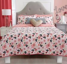 Teens Twin and Queen Love Comforter Set with matching curtains
