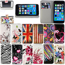 Fold Leather Slots Wallet Flip Soft Stand Case Cover For Apple iPhone 4G 4S 6G