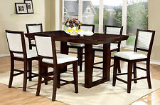 Breakfast Dining Room 7pc Counter Height Dining Set Chairs Espresso Dining Table