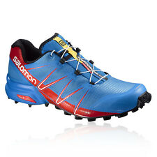 Salomon Speedcross Pro Mens Blue Water Resistant Trail Running Shoes Trainers