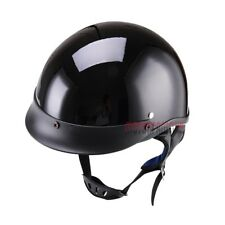 New Motorcycle Bike Moto Half Helmet Helmets Open Face Wind DOT ECE Glossy Black